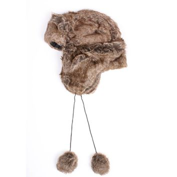 Faux Fur Trooper Trapper Hat