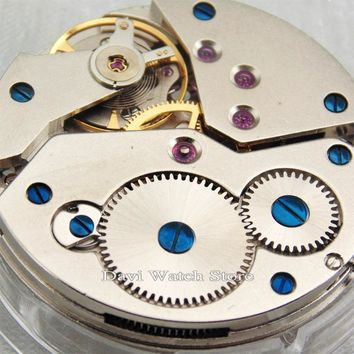 Asian 17 Jewels hand winding 6498 watch movement fit Parnis watch