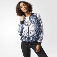 Women¡¯s Adidas Sport Print Long Sleeve Cardigan Jacket Coat Windbreaker