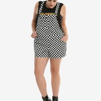 Blackheart Checkerboard Shortalls Plus Size