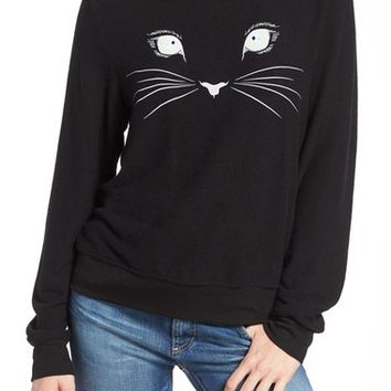 Wildfox 'Baggy Beach Jumper - Meow' Pullover   Nordstrom