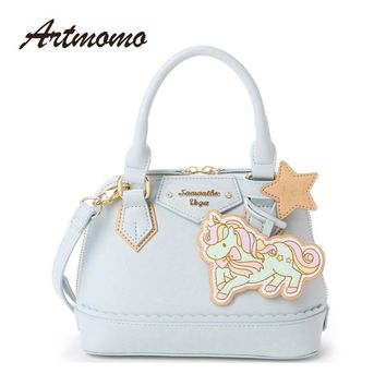 2017 New Sanrio Japan Gemini Unicorn Handbag women Shoulder Bag Cute Cartoon Bag Samantha Vega Messenger Bag