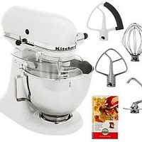 KitchenAid 4.5qt. 300 Watt 10 Speed Tilt-head Stand Mixer — QVC.com