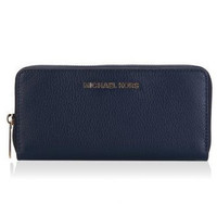 Michael Kors Bedford Navy Leather Continental Wallet
