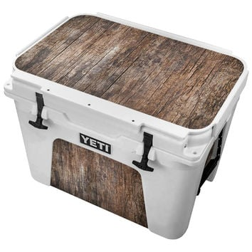 Worn Vintage Wood Planks Skin for the Yeti Tundra Cooler