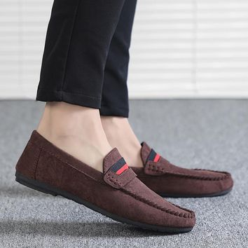 2018 New Social Loafers Men's Korean Version Joker Personal Loafers Trend Breathable Fast Hand Redskins Men's Casual Shoes  5