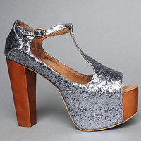 The Foxy Shoe in Pewter Glitter by Jeffrey Campbell Shoes | Karmaloop.com - Global Concrete Culture