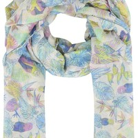 Yoursclothing Best Seller Womens Bright Tropical Parrot Print Scarf