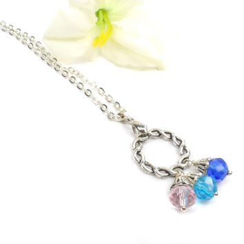 Circle of Love Birthstone Pendant,