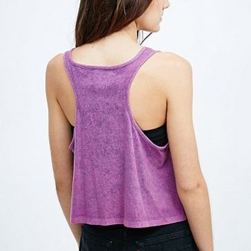 Staring at Stars Washed Racerback Tank in Lilac - Urban Outfitters