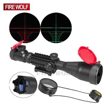 FIRE WOLF 4-16x50 EG LLL Scopes Air Rifle Gun Riflescope Outdoor Hunting Telescope Sight Reflex SNIPER Scope Gun with Red Cover