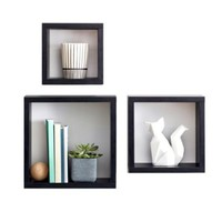Real Simple® Square Cubes in Black (Set of 3)
