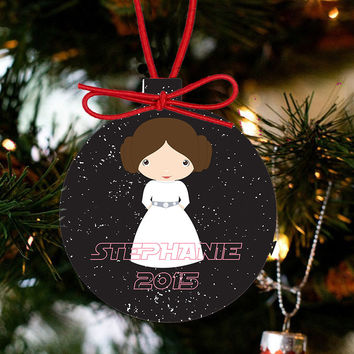 Personalized Christmas Star Wars Ornament - Princess Leia