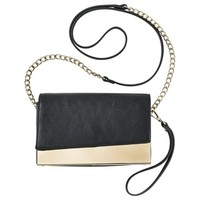 Target Limited Edition Gold Plated Crossbody Handbag - Black