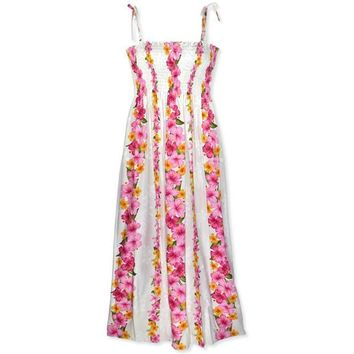 dream white hawaiian maxi dress