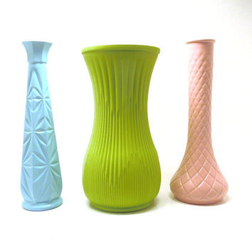 vintage vases pastels nursery decor // upcycled milk by nashpop