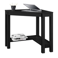 Home Office Corner Desk Laptop Writing Table With Drawer In Black