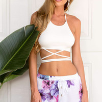 Lucid Love Crop Top (White)