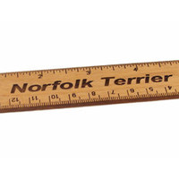 Norfolk Terrier 6 inch Alder Wood Ruler