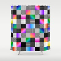 Mondrian Couture Shower Curtain by Dood_L