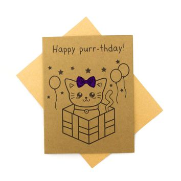 Happy Purr-thday - Birthday Card