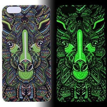 Giraffe Luminous Light Up Case Cover for iPhone 5s / iPhone 6s / iPhone 6s Plus-170928