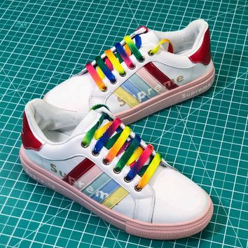 Supreme Colorful Pink Women's Sneakers - Best Online Sale