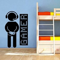 Wall Decals Game Controllers Joystick Gamer Gaming Video Game Kids Children Gift Nursery Boys Room Wall Vinyl Decal Stickers Bedroom Murals