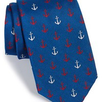 Men's Vineyard Vines 'Anchor' Woven Silk Tie, Size Regular