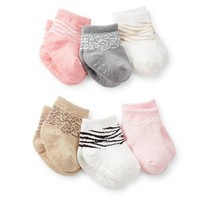 6-Pack Animal Print Socks
