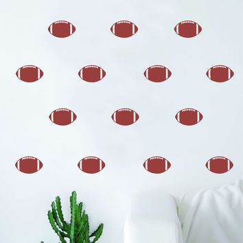 Set of 35 Footballs Pattern Decal Sticker Wall Vinyl Art Home Decor Nursery Sports NFL Teen