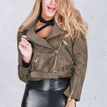 ♡ Winter Thick Suede Bomber Jacket ♡