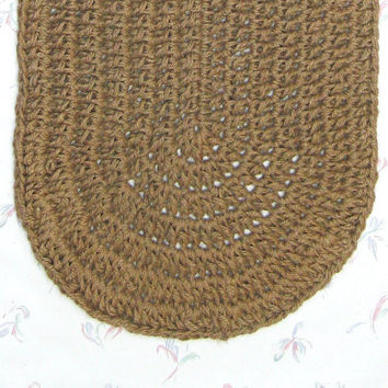 Custom Made Thick Oval Jute Rug - Made to Order Rug - Natural Fiber Rug - Custom Floor Covering - Soft Thick Mat - Rustic Decor - Burlap Rug