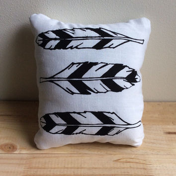 Feathers Screen Printed Pillow