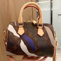 LV Louis Vuitton New fashion monogram print leather shopping leisure pillow shape shoulder bag crossbody bag handbag