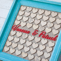 Wedding Guest book, Drop box, Guest Book Frame, Heart Guest book, Personalized Guest book, Custom Guest Book