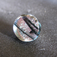 Pale Pink Dichroic Tie Tack, Lapel Pin, Fathers Day, Mens Jewelry - Paramount - 017 -2