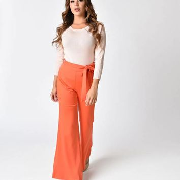 1970s Style Red Bell Bottom Pants