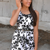 Sophisticated Summer Black and White Dress