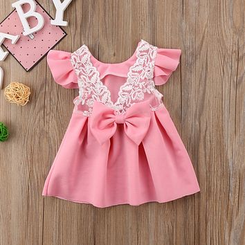 Tutu Wedding Birthday Party Baby Girls Dress