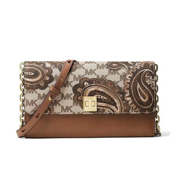 MICHAEL Michael Kors KORS STUDIO Paisley Natalie XL Wallet On A Chain