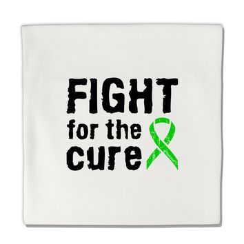 "Fight for the Cure - Lime Green Ribbon Lyme Disease Micro Fleece 14""x14"" Pillow Sham"