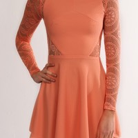 Chantilly Dress Coral