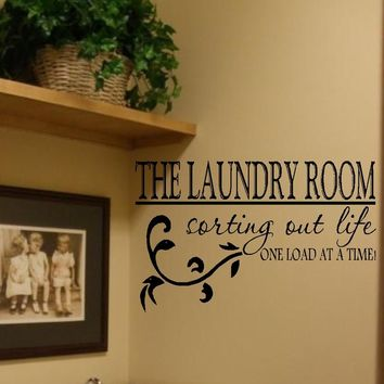 The Laundry Room Vinyl Wall Decal Decor Lettering Art