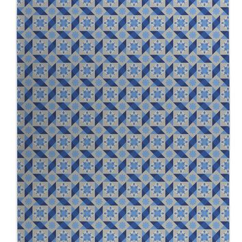 DIAMOND TILES-Indoor-Outdoor Floor Mat-Marina Gutierrez