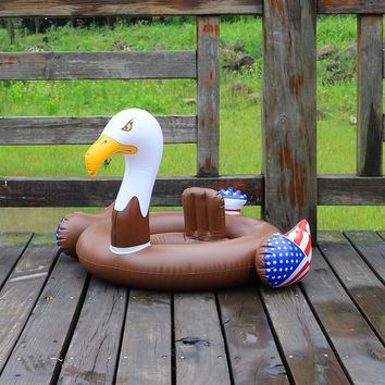 Baby Float inflatable eagle swimming ring Inflatable hawk Pool Float kids swimming seat American eagle Float for for 0-3 years