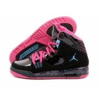 GIRLS JORDAN SC-1 (GS) BLACK/VIVID PINK//DYNAMIC BLUE 439655-009