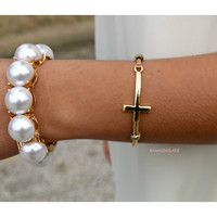At The Cross Gold Cross Bangle