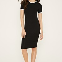 Contrast-Trim T-Shirt Dress