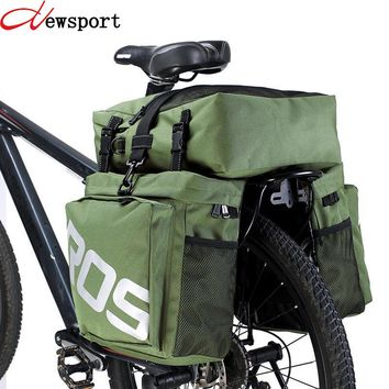 New 37L Cycling Bike Bags MTB Bike Rack Bag 3 in 1 Multifunction Road Bicycle Pannier Rear Seat Trunk Bag Bicycle Accessories